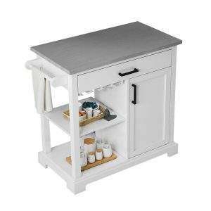 "Wellington 36"" kitchen cart front view"