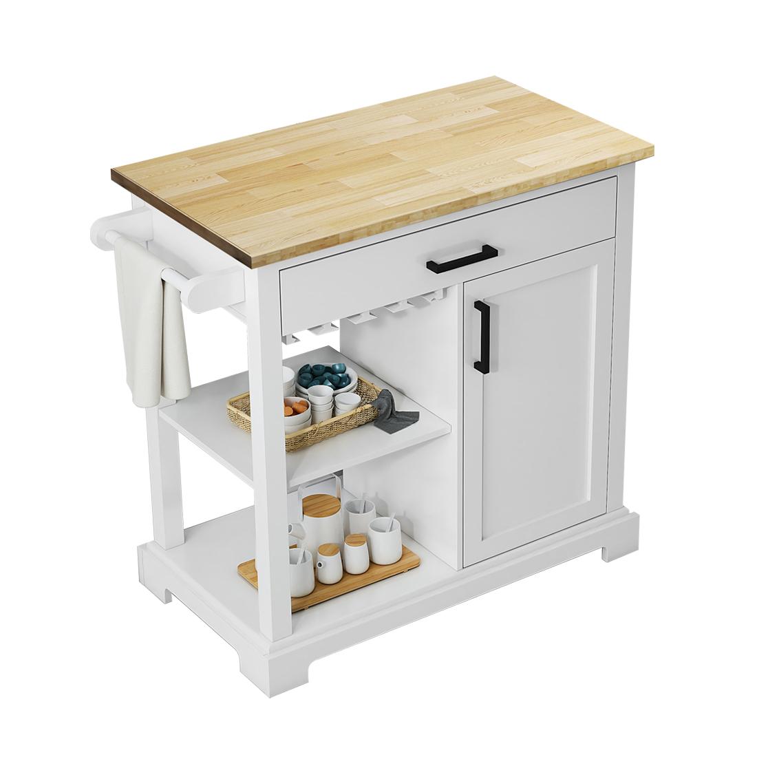 """Wellington 36"""" kitchen cart front view"""