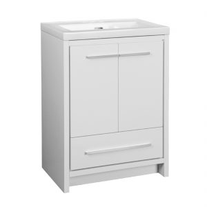 Romali 2.0 24inch-White Vanity front view
