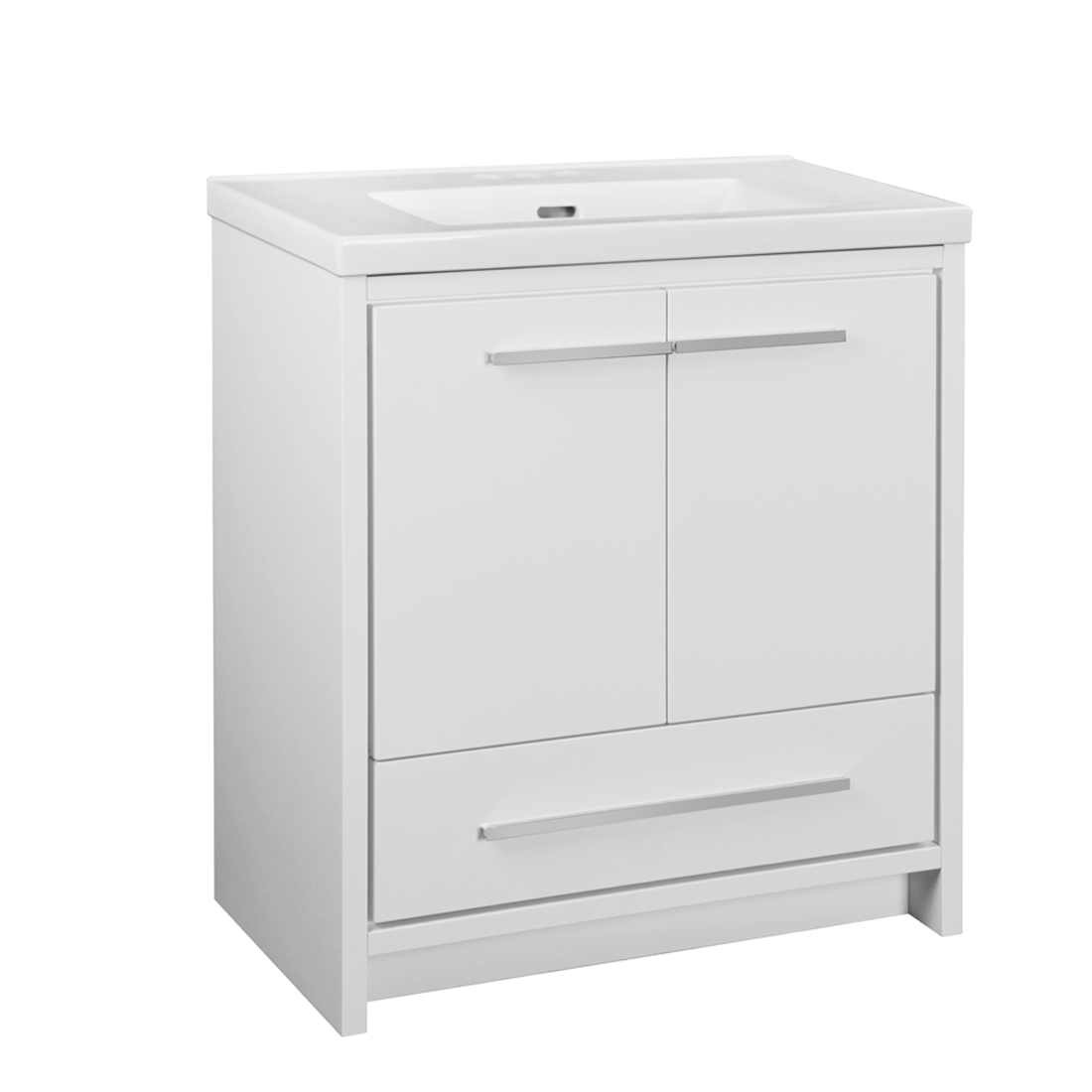 Romali 2.0 30inch-White Vanity front view