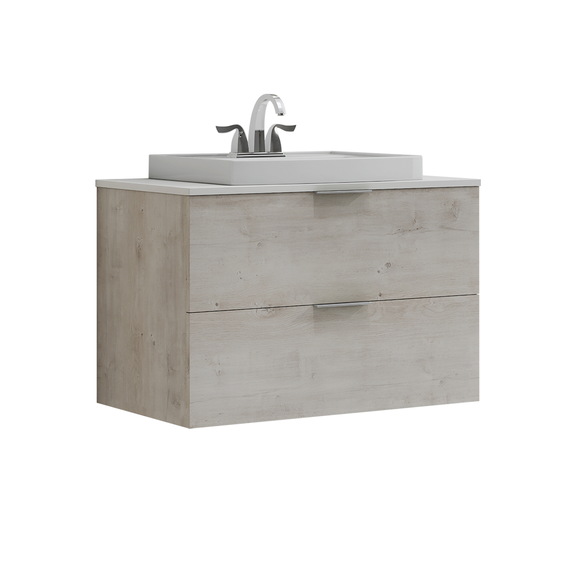 Drayston 30inch-Vanity with white sink front view