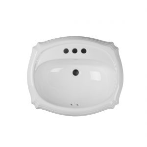 Anchorage Lavatory 3Hole 4inch White Up View