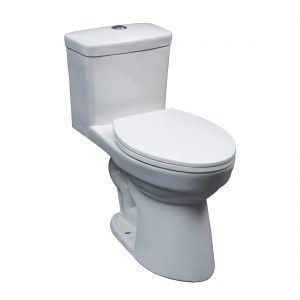Atlanta Toilet 16.5inch Dual White Front View