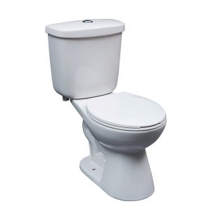 Auckland Toilet 15inch Dual White Front View