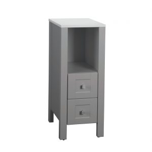 Braylee 13inch Vanity With 2 Drawers Grey Front View