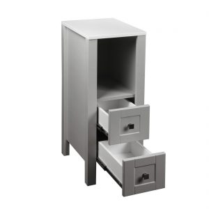 Braylee 13inch Vanity With 2 Drawers Grey Inside View