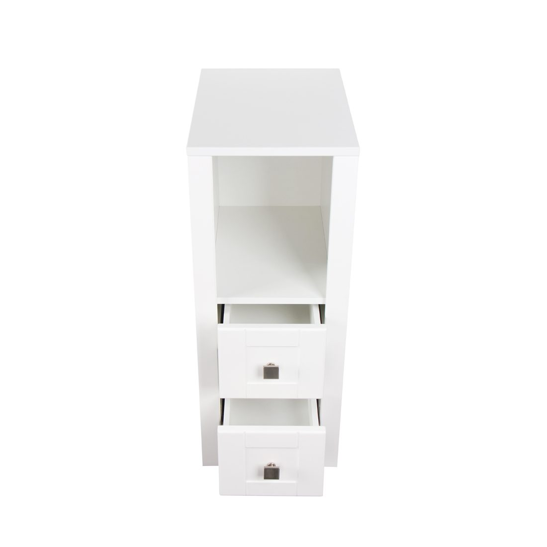 Braylee 13inch Vanity With 2 Drawers White Inside View