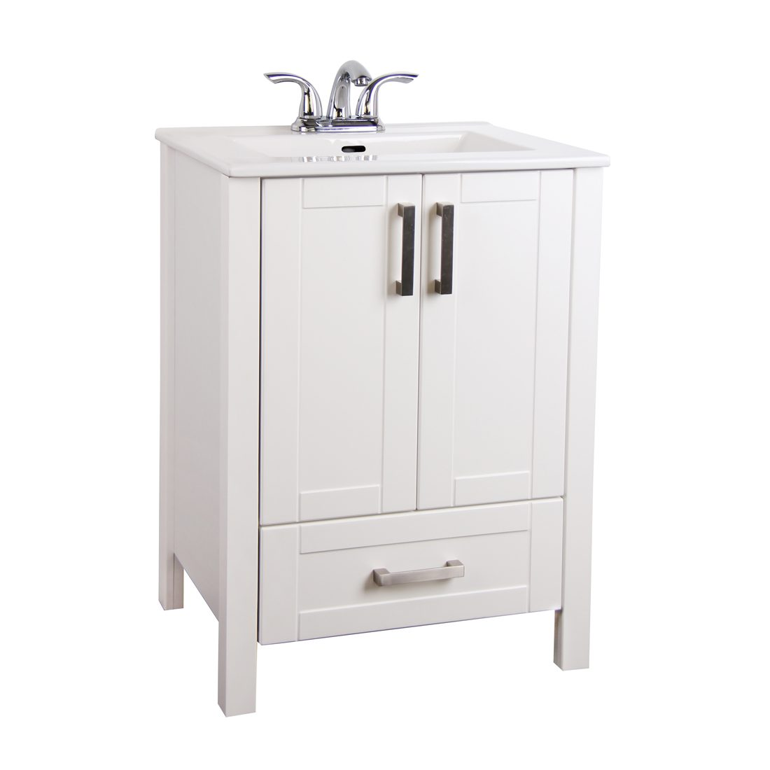 Braylee 24inch Vanity White Front View