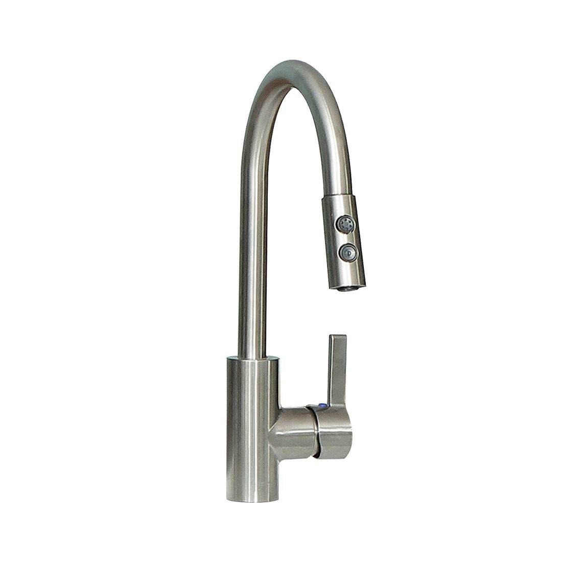 Burges 25inch Laundry Cabinet Pull Down Brushed Nickel Faucet View