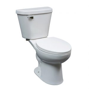 Chicago Toilet 16.5inch 6L White Front View