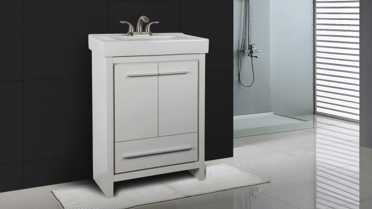 Dolphin Homeware Collection Romali 24inch Vanity Wooden White Front View