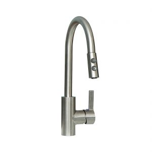 Essen 24.4inch Laundry Cabinet Pull Down Brushed Nickel Faucet View