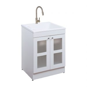 Essen 24.4inch Laundry Cabinet White Front View