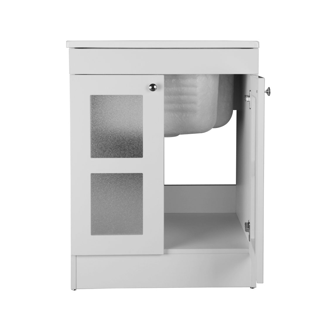 Essen 24.4inch Laundry Cabinet White Inside View