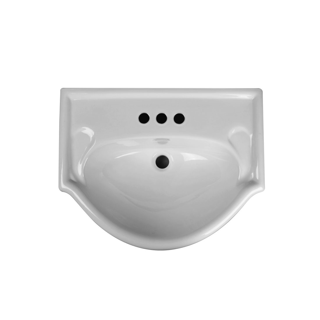 Euro 24inch Metal Leg Vanity Top View