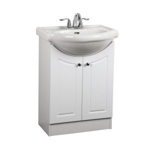 Euro 24inch Vanity White Front View