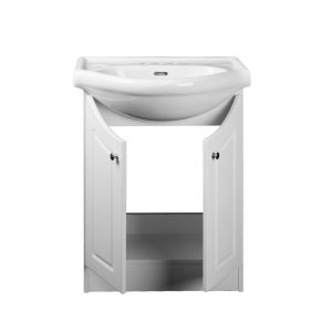 Euro 24inch Vanity White Inside View