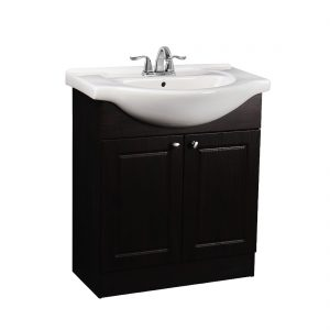 Euro 30inch Vanity Chocolate Front View