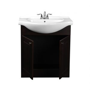 Euro 30inch Vanity Chocolate Inside View