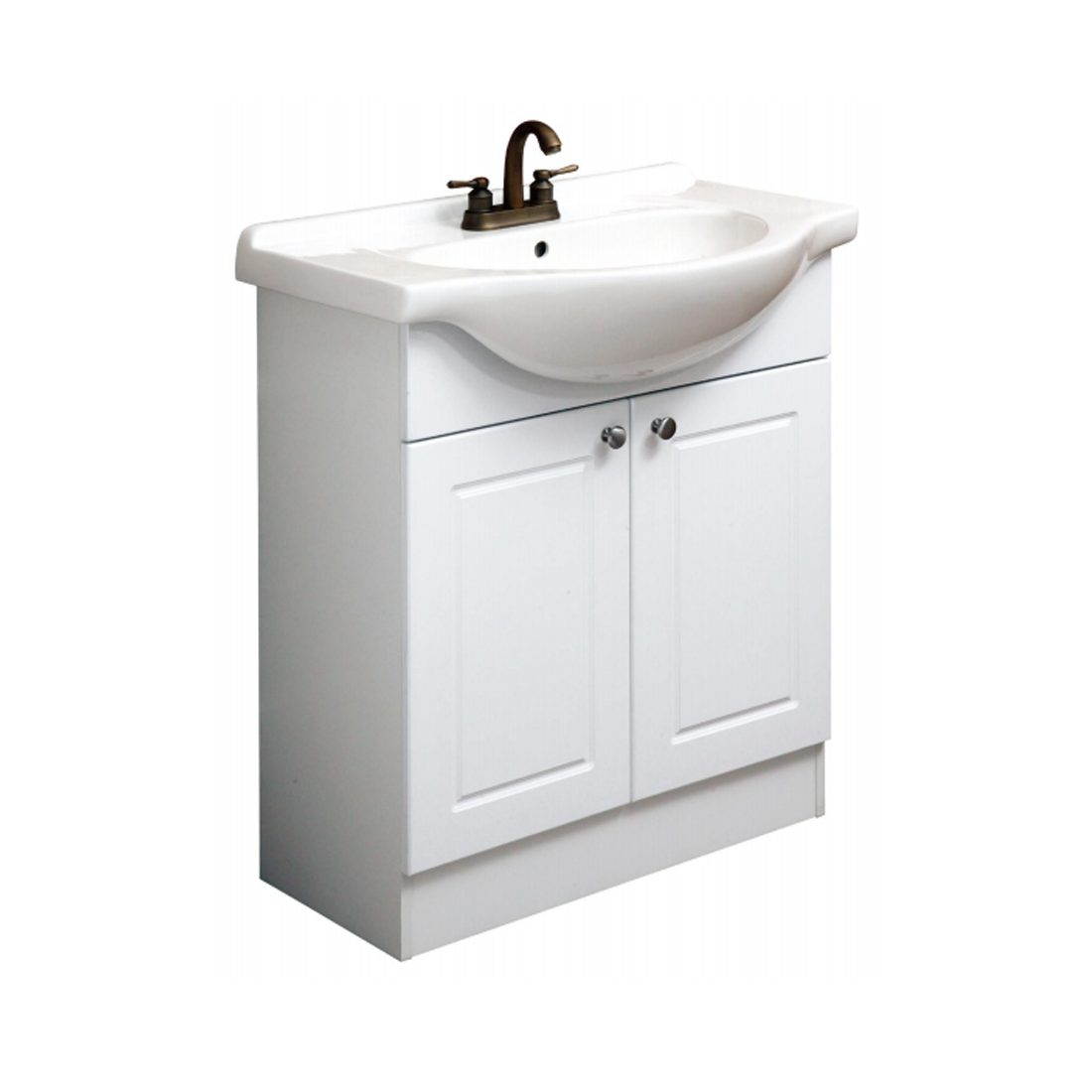 Euro 30inch Vanity White Front View