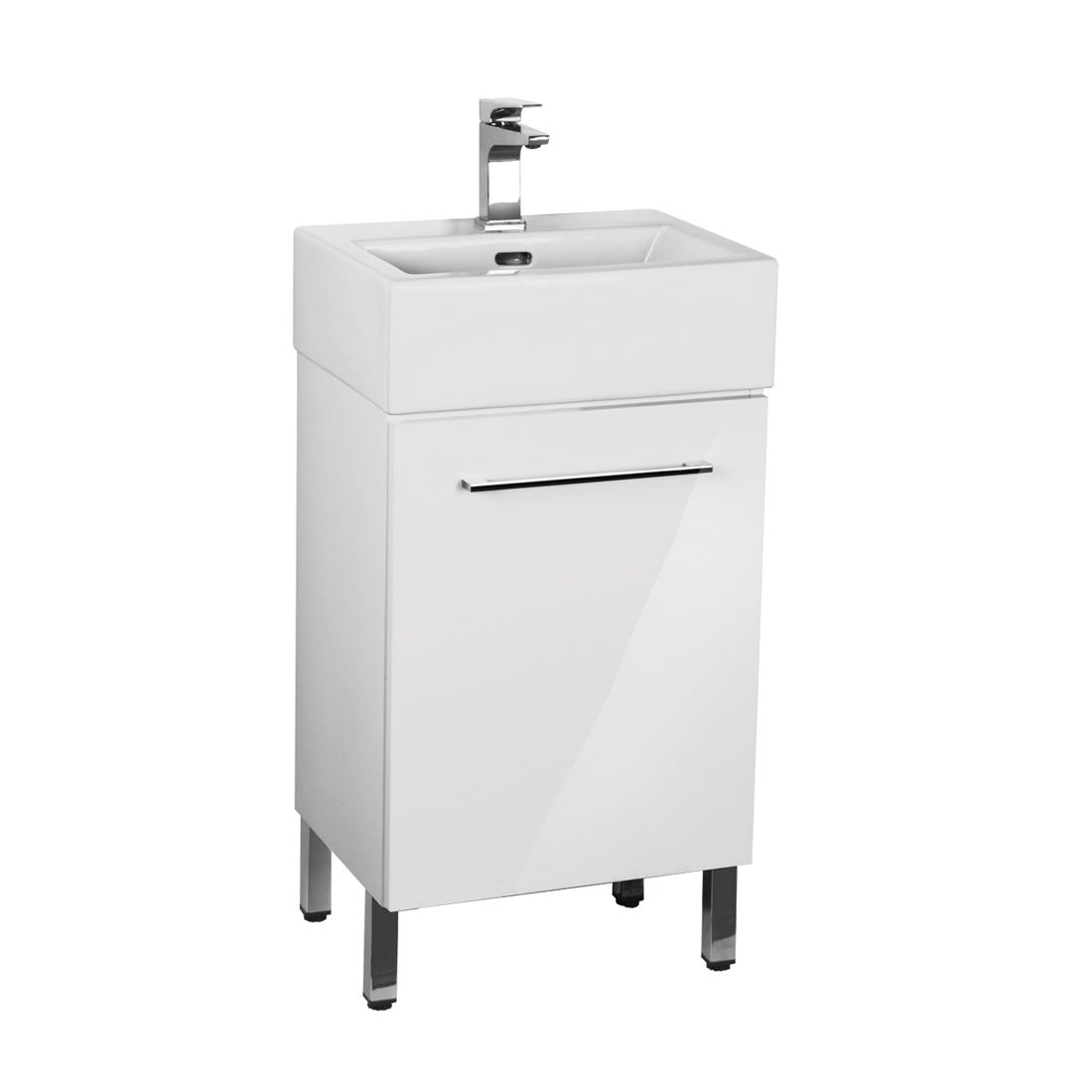 Florence 18inch Vanity Glossy White Front View