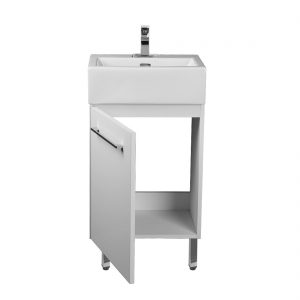 Florence 18inch Vanity Glossy White Inside View