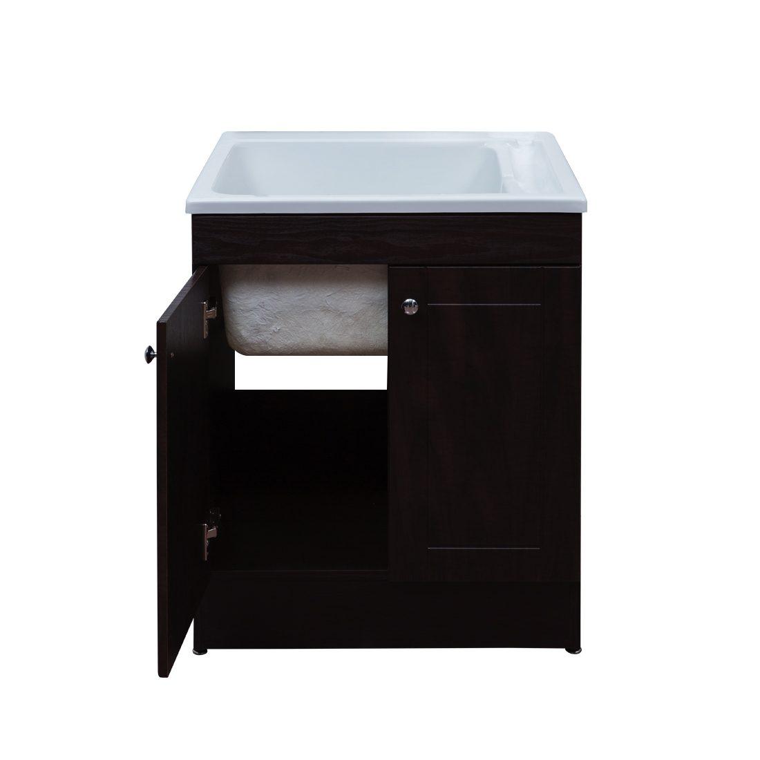 Hagen 24.4inch Laundry Cabinet Espresso Inside View