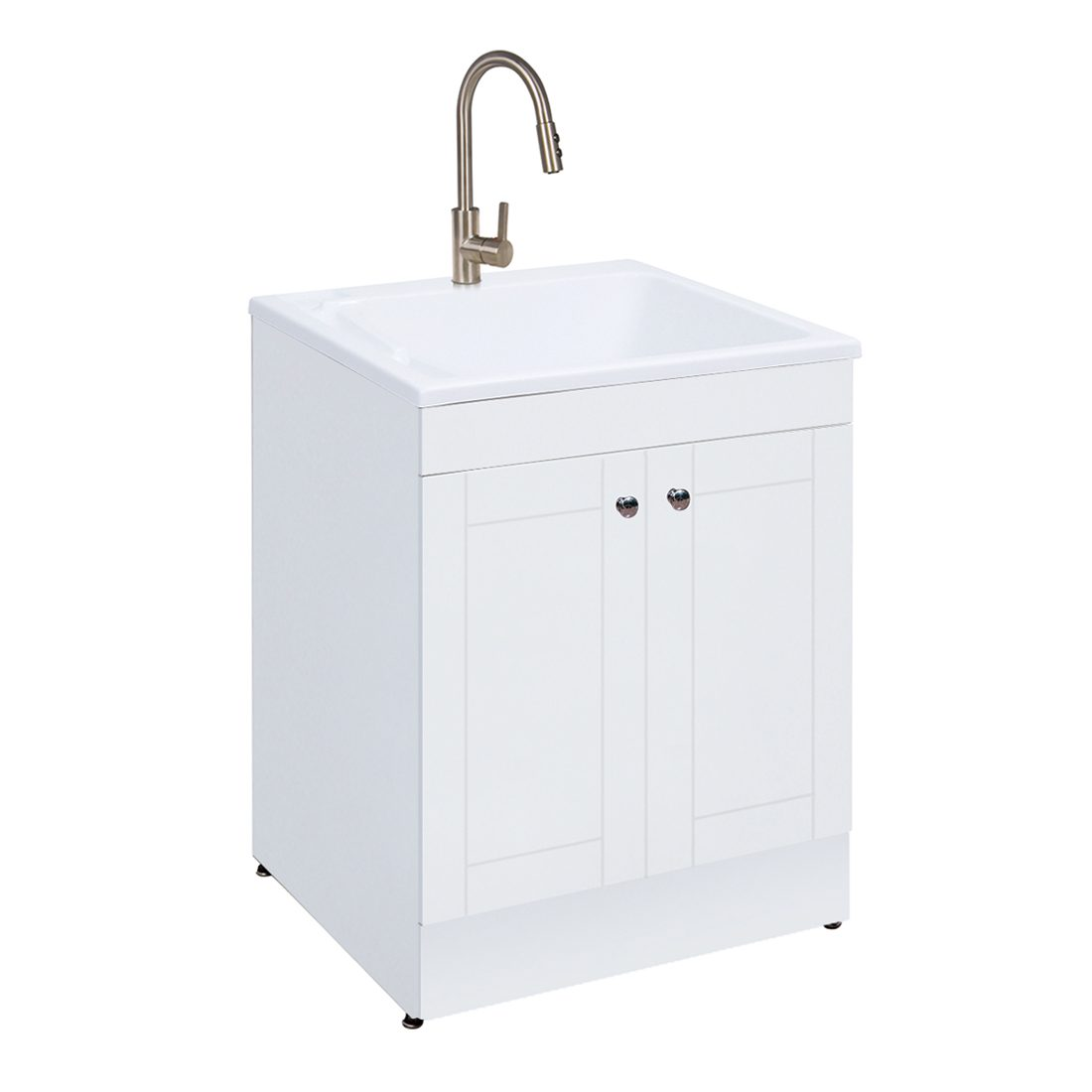 Hagen 24.4inch Laundry Cabinet White Inside View