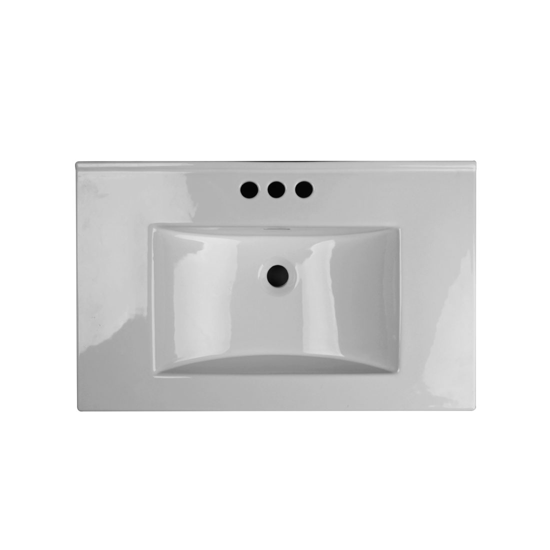 Milan 30inch Wall Hung Vanity Top View
