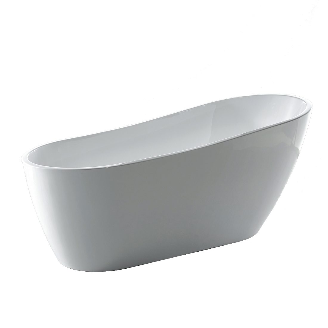 Nantes Acrylic Freestanding Bathtub 60inch Side View