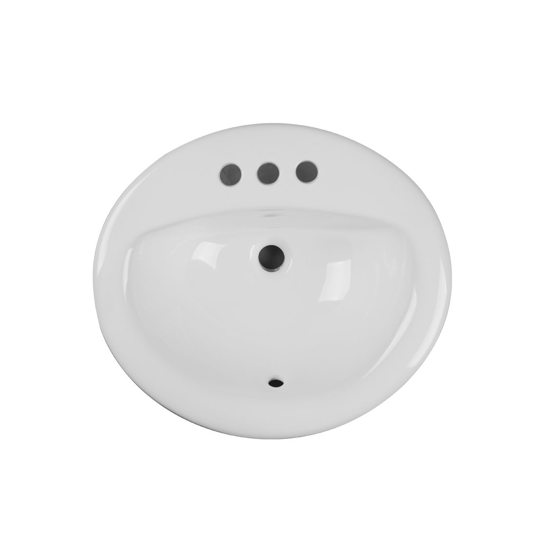 New York Lavatory 3Hole 4inch White Up View