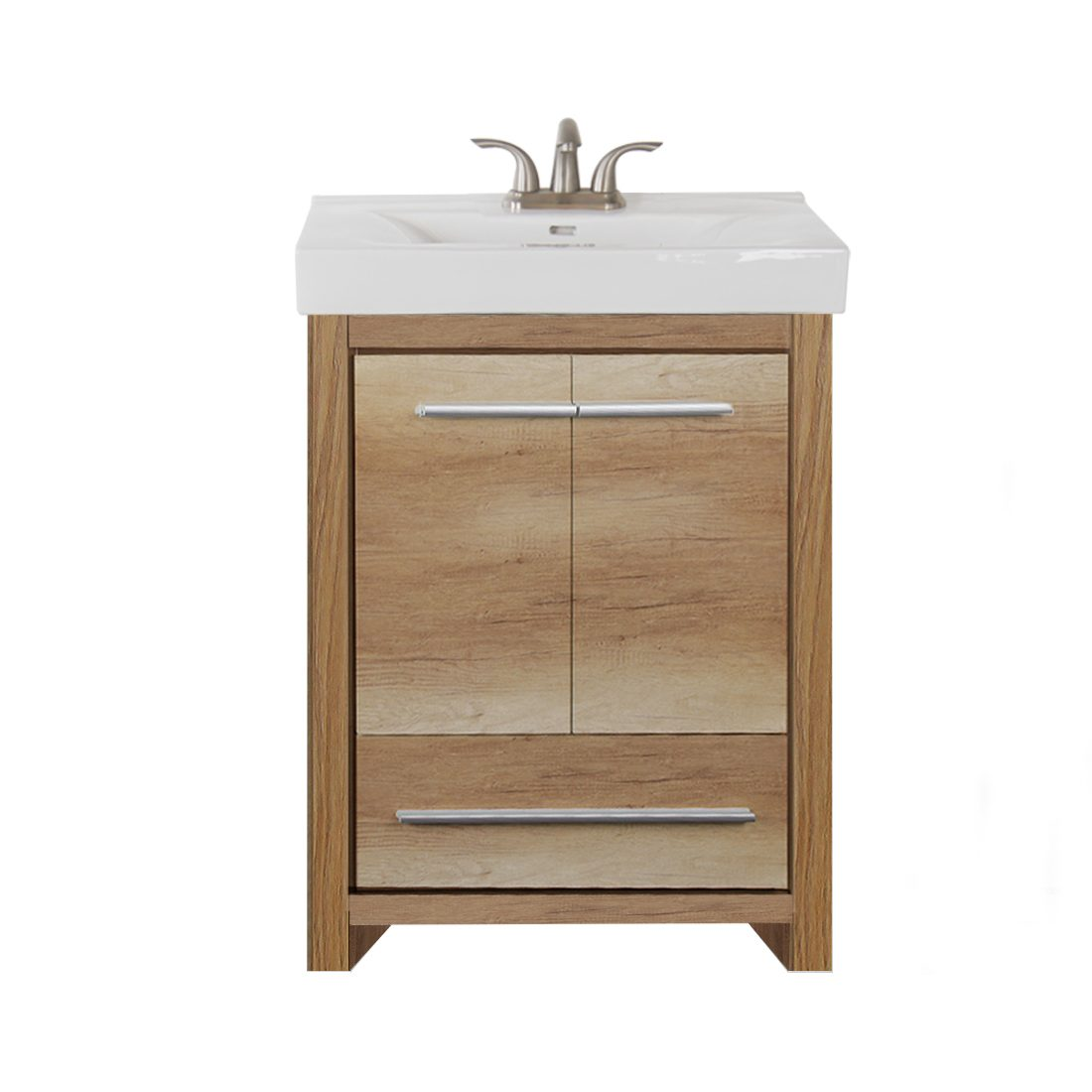Romali 24inch Vanity Natural Wood Front View