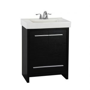 Romali 24inch Vanity Wooden Black Front View