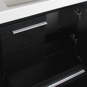Romali 24inch Vanity Wooden Black Inside View