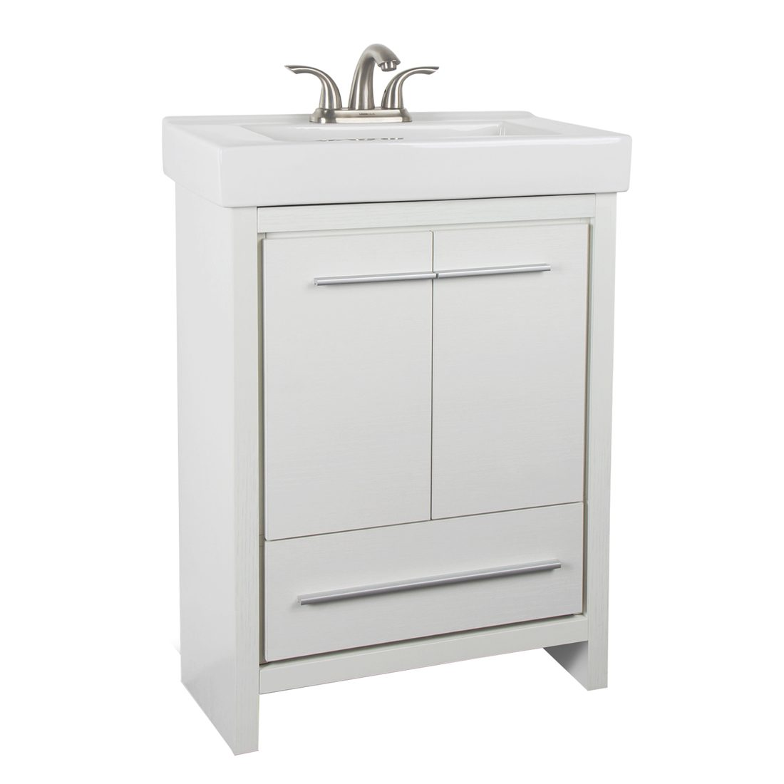 Romali 24inch Vanity Wooden White Front View
