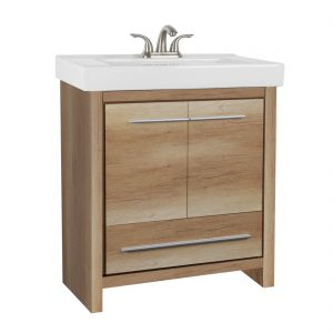 Romali 30inch Vanity Natural Wood Front View
