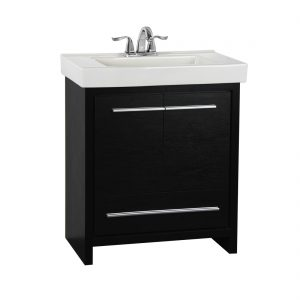 Romali 30inch Vanity Wooden Black Front View