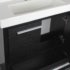 Romali 30inch Vanity Wooden Black Inside View