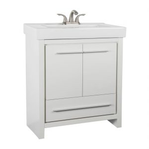 Romali 30inch Vanity Wooden White Front View