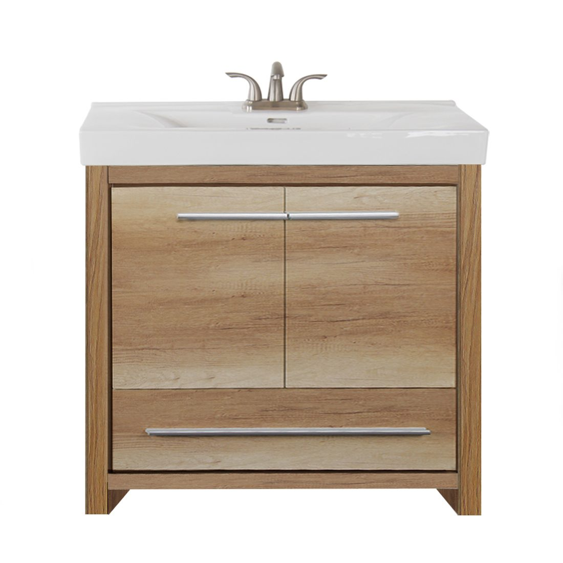 Romali 36inch Vanity Natural Wood Front View