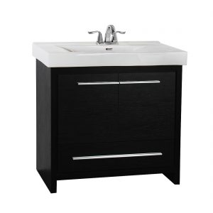 Romali 36inch Vanity Wooden Black Front View