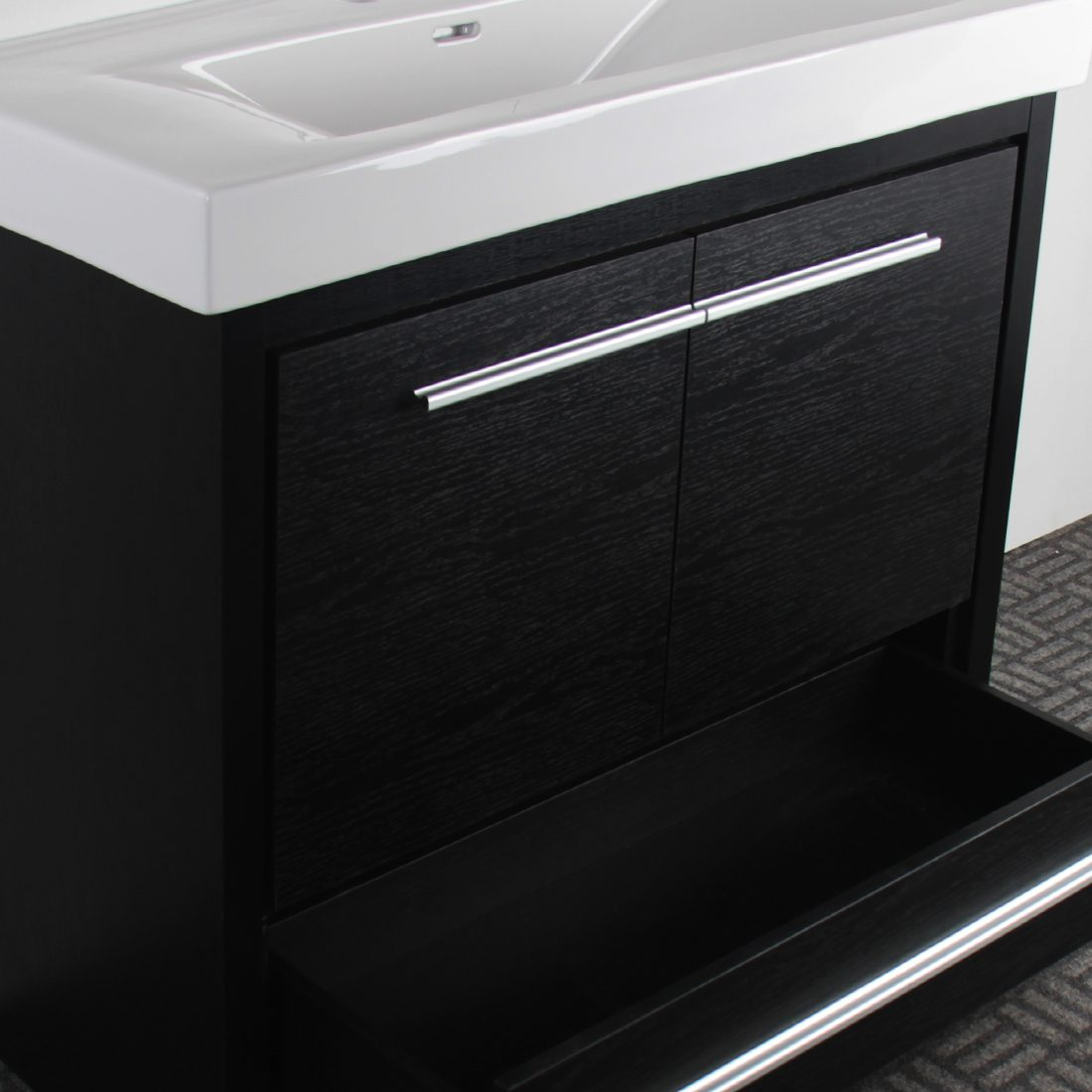 Romali 36inch Vanity Wooden Black Inside View