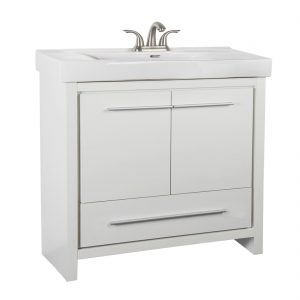 Romali 36inch Vanity Wooden White Front View