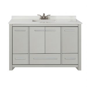 Romali 48inch Vanity With Artificial Marble Top Grey Front View