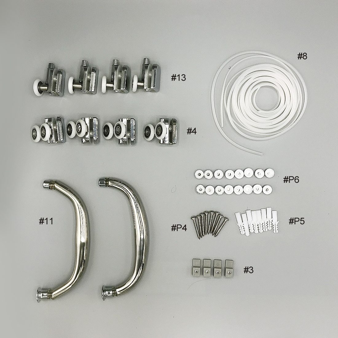 S22041 Sutton 38inch Round Shower Parts