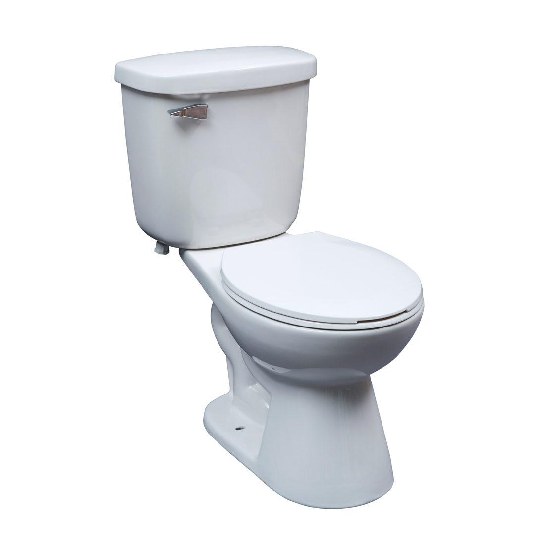 Saint John Toilet 15inch 6L White Front View