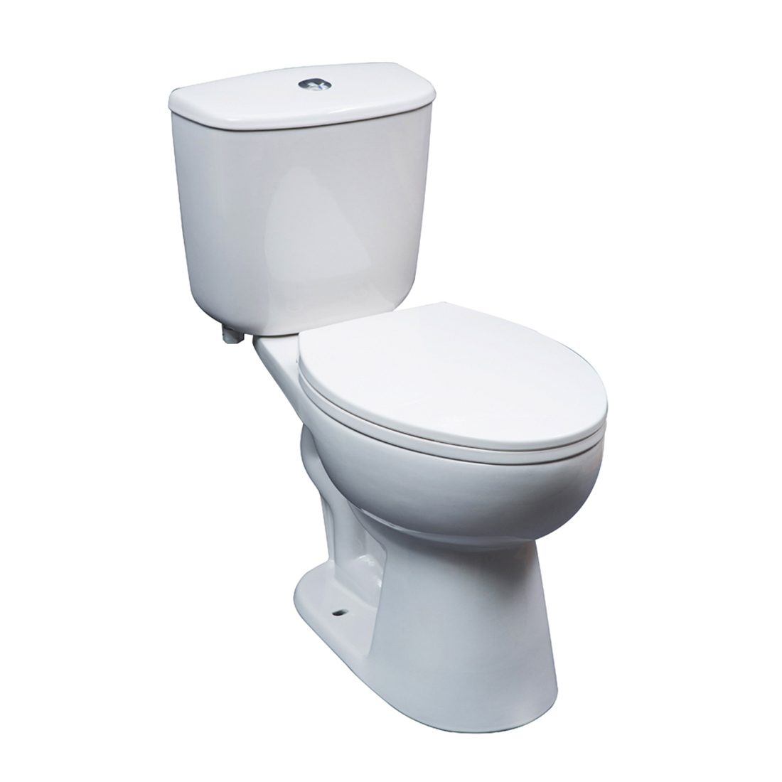 Seattle Toilet 16.5inch Dual White Front View
