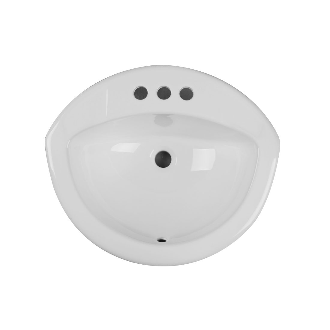 Tampa Lavatory 3Hole 4inch White Up View