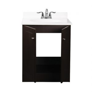 Tivoli 25inch Vanity With Poly Marble Basin Chocolate Inside View