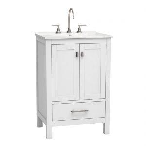 Torino 24inch vanity bottom drawer grey front view